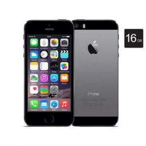 iPhone 5s, 16GB, Cinza espacial Tela de 4' Chip A7 Touch ID  Wireless 4G LTE Câmera traseira iSight de 8MP e iOS 8
