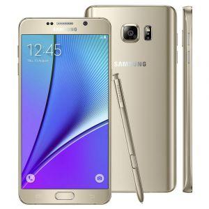 Smartphone Samsung Galaxy Note 5 SM-N920G Dourado com 32GB, Tela de 5.7'', Câmera 16MP, 4G, Android 5.1 e Processador Octa-Core