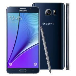 Smartphone Samsung Galaxy Note 5 SM-N920G Preto com 32GB, Tela de 5.7'', Câmera 16MP, 4G, Android 5.1 e Processador Octa-Core