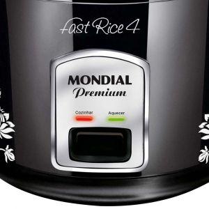 Panela Elétrica Mondial Fast Rice 4 PE-08 - Preto/Prata - 1 Litro