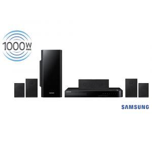 Home Theater Samsung HT-F5505K/ZD 5.1 Canais com Blu-ray 3D, Função Futebol, Karaokê, Bluetooth, Entrada USB, Cabo HDMI e Lê DVD – 1000 W