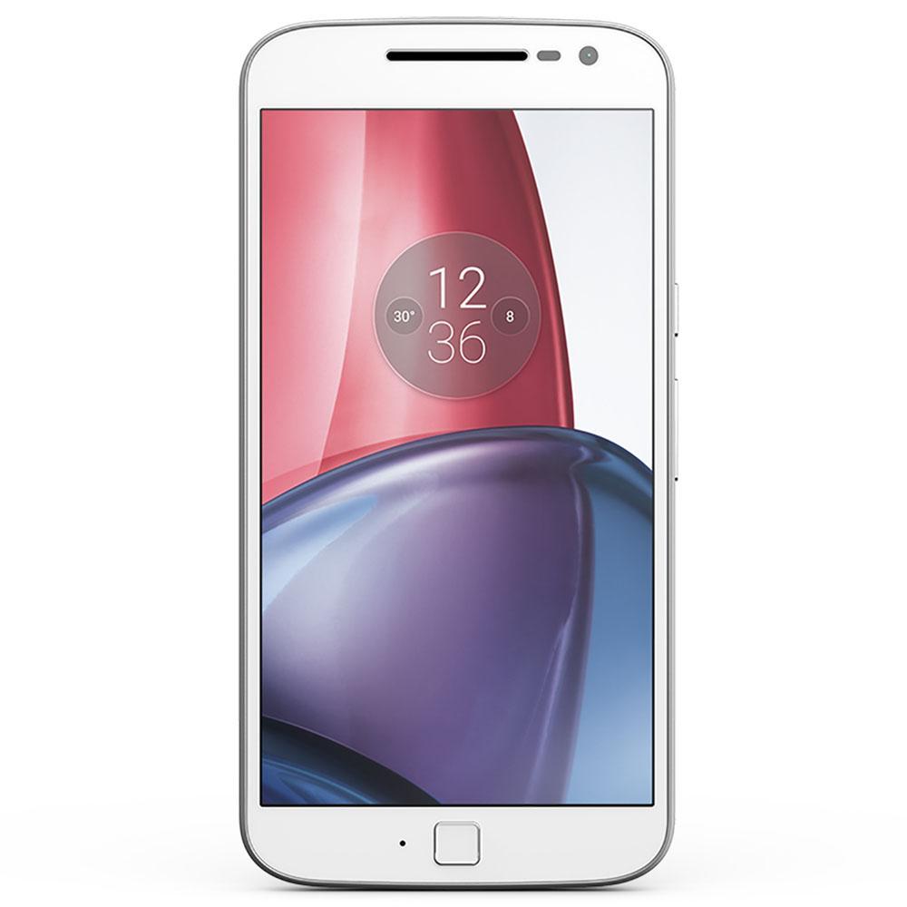 Smartphone Motorola Moto G4 Plus XT1640 Branco com 32GB, Tela de 5.5'', Dual Chip, Android 6.0, 4G, Câmera 16MP, Processador Octa-Core e 2GB de RAM