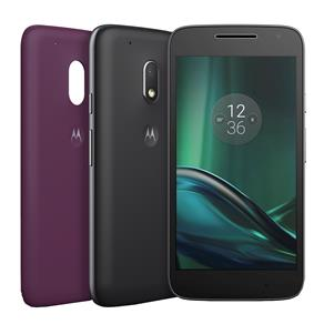 Smartphone Moto G4 Play DTV Colors XT1603 Preto com TV, 16GB, Tela de 5'', Dual Chip, Android 6.0, 4G, Câmera 8MP, Processador Quad-Core e 2GB de RAM