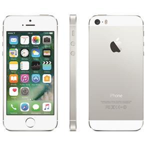 "iPhone 5S Apple com 16GB, Tela 4"", iOS 8, Touch ID, Câmera 8MP, Wi-Fi, 3G/4G, GPS, MP3 e Bluetooth – Prateado"