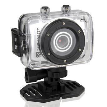 "Câmera Multilaser HD Bob Burnquist 14 MP, tela 1.77"" e vídeo HD + suporte de capacete + suporte de bicicleta + case à prova d'água + case protetor"