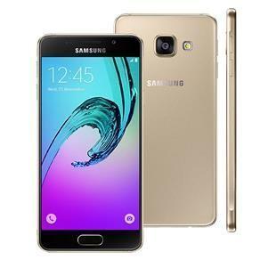 """Smartphone Samsung Galaxy A3 2016 A310M/DS Dourado com 16GB, Dual Chip, 4G, Tela 4.7"""", Android 6.0, Câmera 13MP e Processador Quad Core 1.5GHz"""