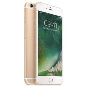"iPhone 6s Plus Apple com 128GB, Tela 5,5"" HD, 3D Touch, iOS 9, Sensor Touch ID, Câmera iSight 12MP, Wi-Fi, 4G, GPS, Bluetooth e NFC - Dourado"