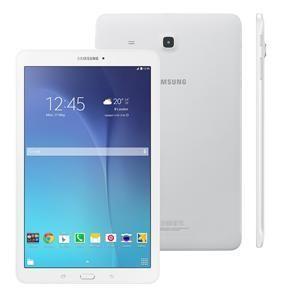 """Tablet Samsung Galaxy Tab E 9.6 3G SM-T561 com Tela 9.6"""", 8GB, Câmera 5MP, GPS, Android 4.4, Processador Quad Core 1.3 Ghz - Branco"""