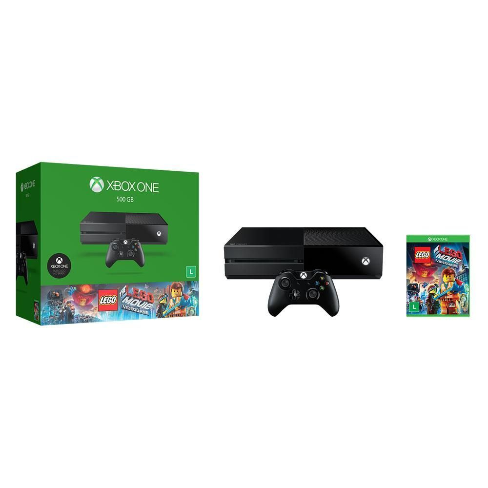Console Xbox One 500GB + Jogo The Lego Movie Videogame