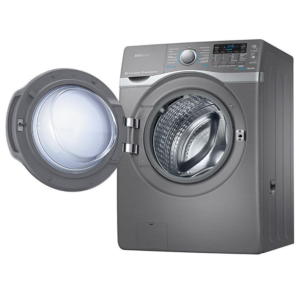 Lavadora e Secadora de Roupas Samsung WD15H7300KP/AZ WD700 Inox Look com Eco Bubble 15Kg – 110V - 127V