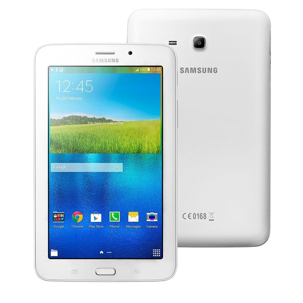 "Tablet Samsung Galaxy Tab E 7.0 3G SM-T116BU com Tela 7"", 8GB, Câm. 2MP, AGPS, Bluetooth e Android 4.4 e Processador Quad Core de 1.3GHz - Branco"
