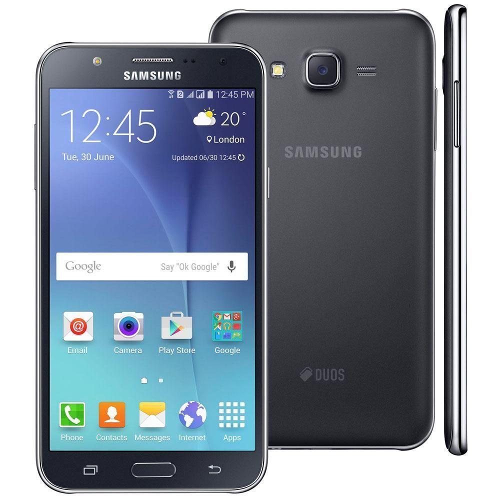 """Smartphone Samsung Galaxy J7 Duos Preto com Dual chip, Tela 5.5"""", 4G, Câmera 13MP, Android 5.1 e Processador Octa Core de 1.5 Ghz"""