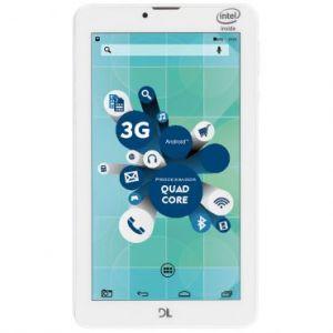 Tablet DL SocialPhone com Função celular TX316BRA - Tela 7, Intel Atom X3 Quad Core, 8GB, 1GB RAM, Android 5, Wi-Fi+3G,Câmera frontal,Bluetooth-Branco