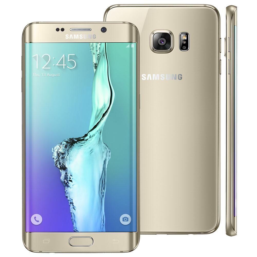 """Smartphone Samsung Galaxy S6 Edge Plus SM-G928G Dourado com 32GB, Tela de 5.7"""", Android 5.1, 4G, Câmera 16 MP e Processador Octa Core"""
