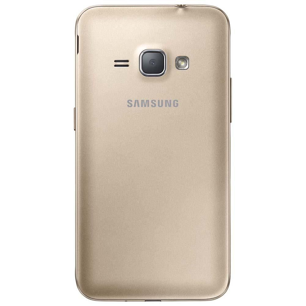 """Smartphone Samsung Galaxy J1 2016 Duos Dourado com Dual chip, Tela 4.5"""", 3G, Câm.de 5MP e Frontal de 2MP, Android 5.1 e Processador Quad Core 1.2 GHz"""