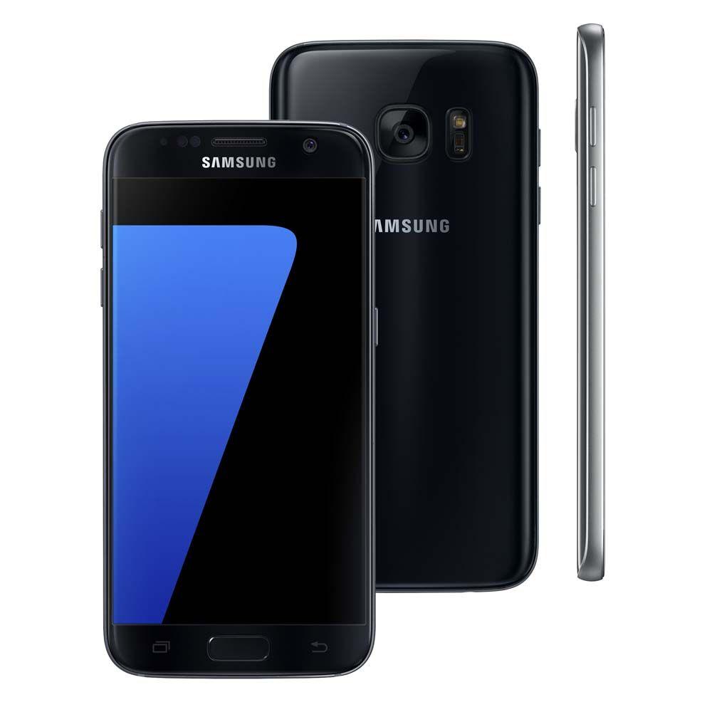 """Smartphone Samsung Galaxy S7 Preto com 32GB, Tela 5.1"""", Android 6.0, 4G, Câmera 12MP e Processador Octa-Core"""