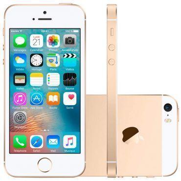 """iPhone SE 16GB Apple Dourado MLXM2 - 4G, Tela IPS LCD 4"""" Câmera 12 MP + Frontal 1.2MP, Gravação de vídeos em 4K, A9,iOS 9"""