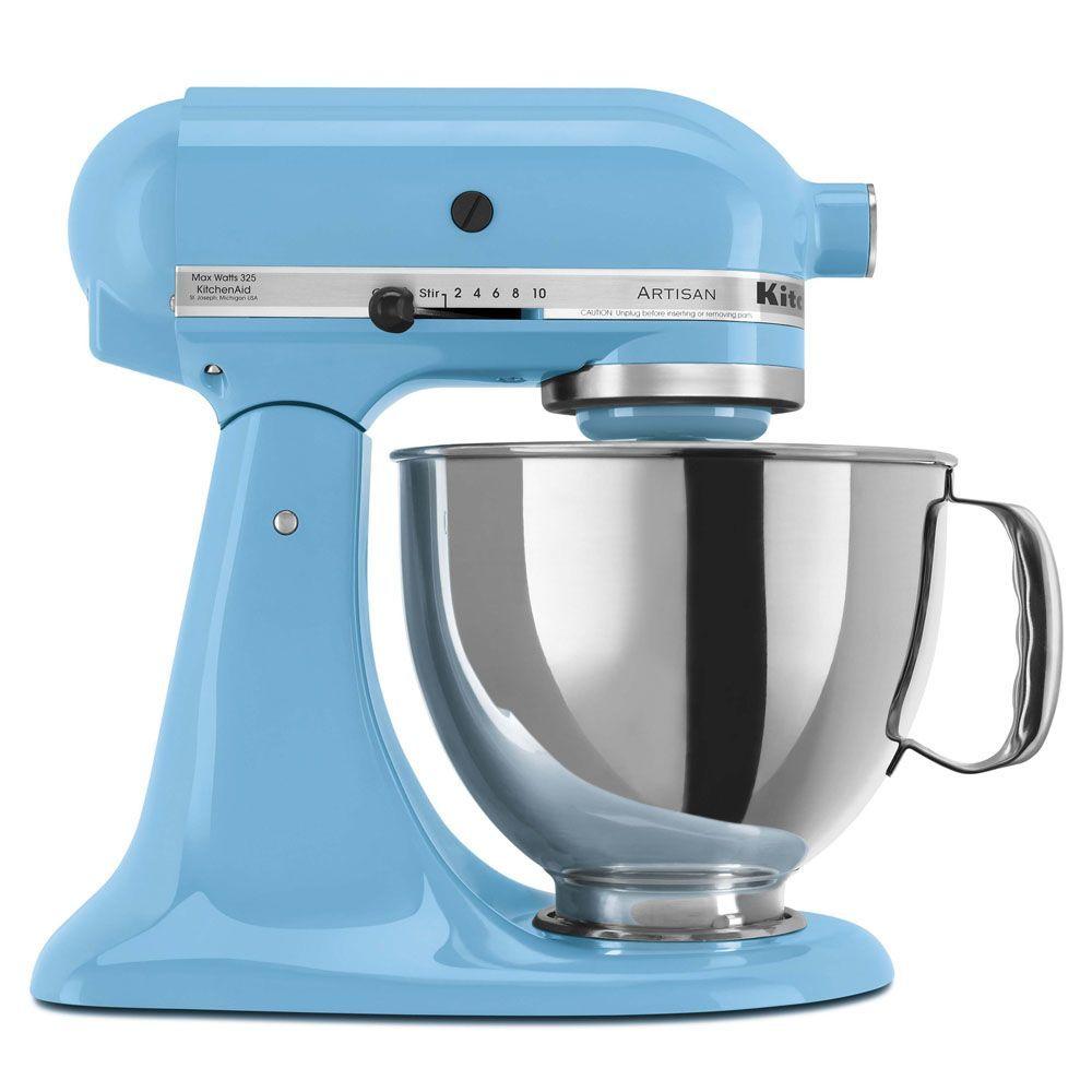 Batedeira Kitchenaid Stand Mixer Crystal Blue 10 Velocidades, Movimento Planetário e Tigela de 4,83L 110V – Azul