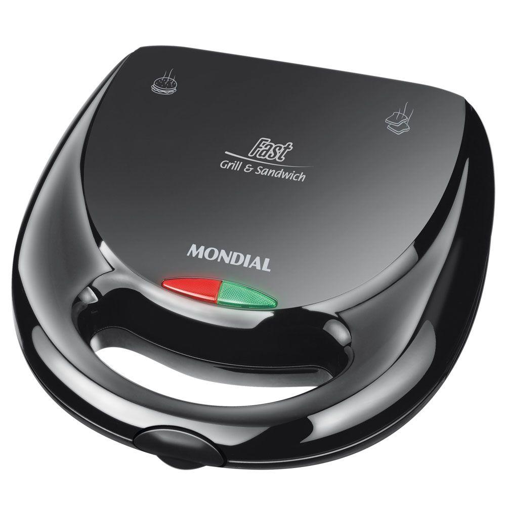 Conjunto Especial Mondial Gourmet II KT 56 (Liquidificador Dinâmico Filter L 34 + Sanduicheira S 12 + Batedeira Prática Black B 12)