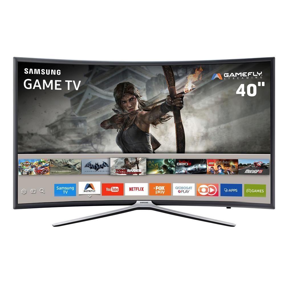 """Smart TV Games LED 40"""" Full HD Curva Samsung 40K6500 com Aplicativos, Plataforma Tizen, GameFly, Conectividade com Smartphones, Wi-Fi, HDMI e USB"""