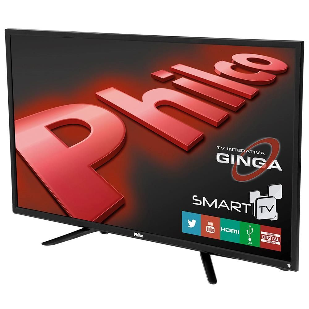 "Smart TV LED 32"" HD Philco PH32B51DSGW com Conversor Digital, Tecnologia Ginga, Wi-Fi, Entradas HDMI e Entrada USB"