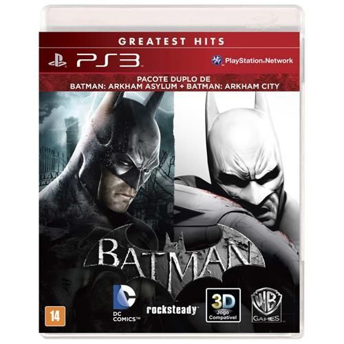 Jogo Bundle Batman Arkham Asylum + Batman Arkham City - PS3