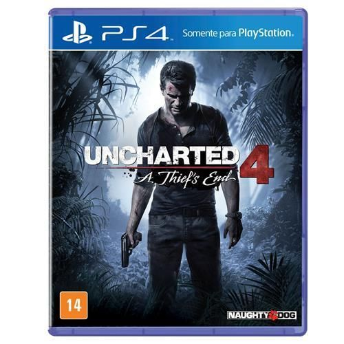 Jogo Uncharted 4: A Thief's End PS4 + Camiseta G Exclusiva Uncharted 4