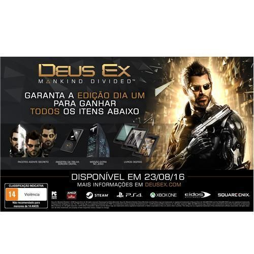 Jogo Deus Ex: Mankind Divided - Day One Edition - PS4