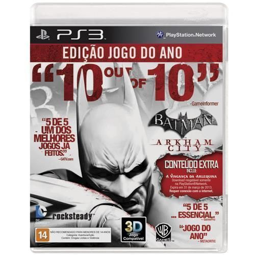 Jogo Batman: Arkham City - GOTY - PS3