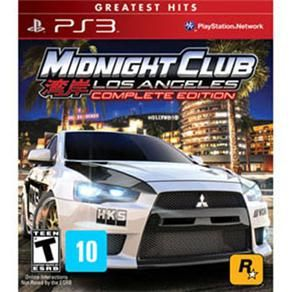 Jogo Midnight Club: Los Angeles - Complete Edition - PS3