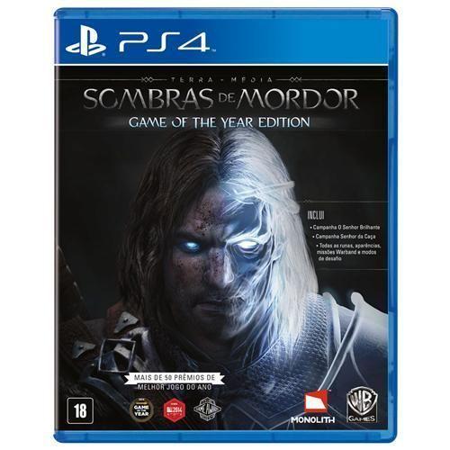 Jogo Terra Média: Sombras de Mordor Goty - PS4