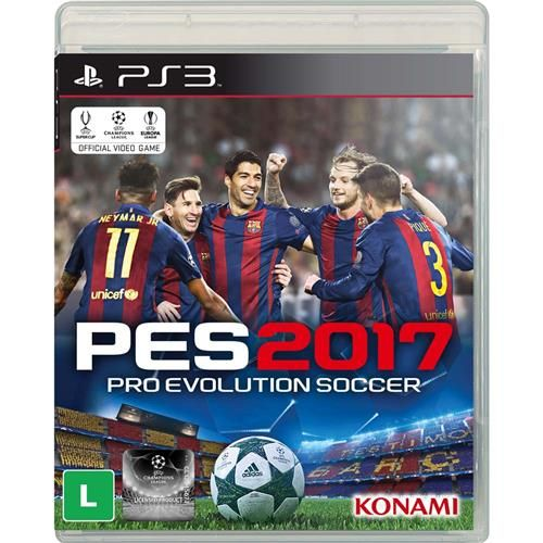 Jogo Pro Evolution Soccer 2017 PS3 + Camiseta Exclusiva PES 2017