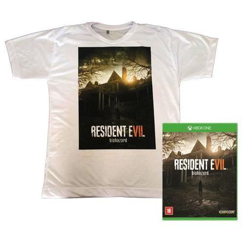 Jogo Resident Evil 7 Xbox One + Camiseta Exclusiva Resident Evil 7 - Branca
