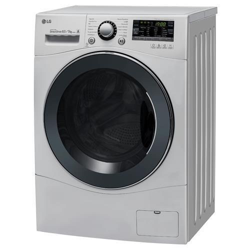 Lavadora/Secadora de Roupas LG Touch Big Door WD1485ATB 8.5Kg, Branca, com 6 Movimentos de Lavagem e Direct Drive