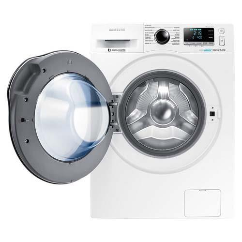 Lavadora e Secadora de Roupas Samsung WD10J6410AW WD6000 Branca com Eco Bubble e Programas de Lavagem - 10,2Kg