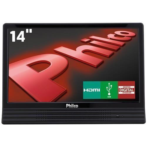 """TV LED 14"""" HD Philco PH14E10DLED com Conversor Digital Integrado, Entrada HDMI e USB"""
