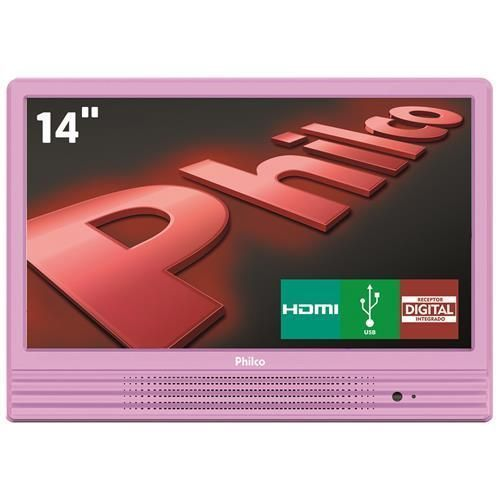 "TV LED 14"" HD Philco PH14E10DR com Conversor Digital Integrado, Entrada HDMI e USB"