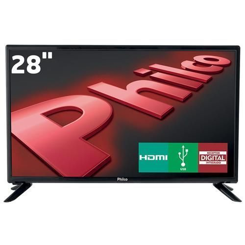"TV LED 28"" HD Philco PH28D27D com Conversor Digital Integrado, Progressive Scan, Entradas HDMI e Entrada USB"