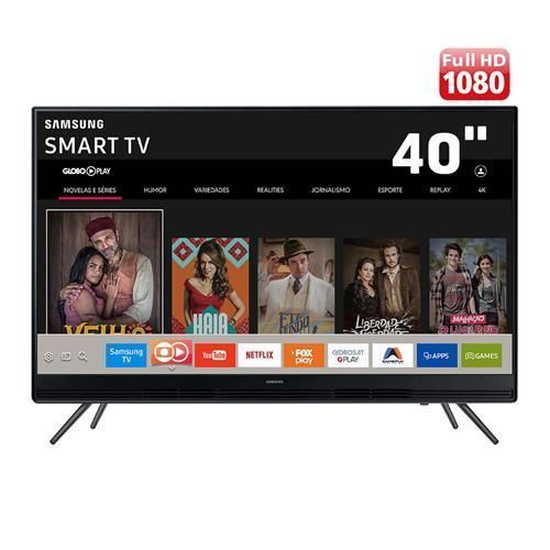 "Smart TV LED 40"" Full HD Samsung 40K5300 com Plataforma Tizen, Conectividade com Smartphones, Áudio Frontal, Conversor Digital, Wi-Fi, 2 HDMI e 1 USB"