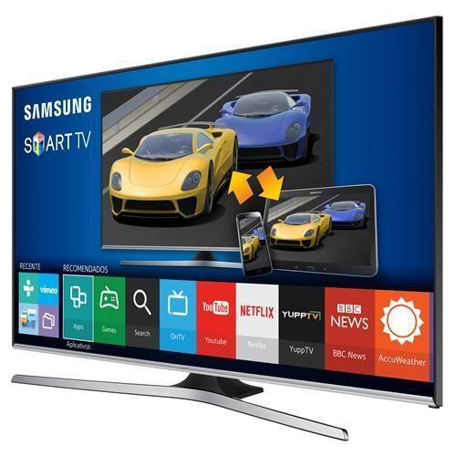 "Smart TV LED 40"" Full HD Samsung 40J5500 com Connect Share Movie, Screen Mirroring, Wi-Fi, Entradas HDMI e USB"