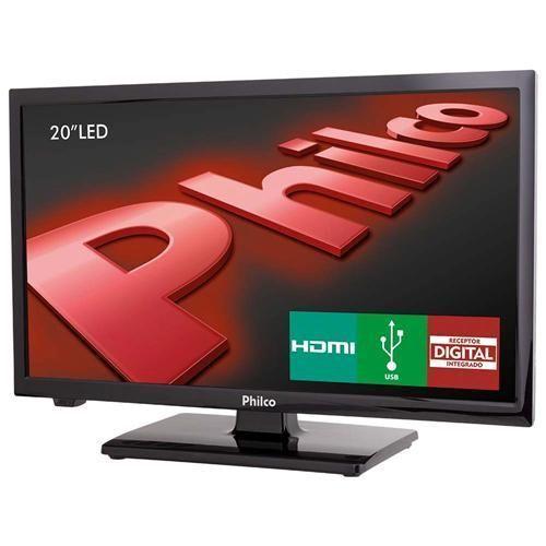 """TV LED 20"""" HD Philco PH20U21D com Receptor Digital, Entradas HDMI e Entrada USB"""
