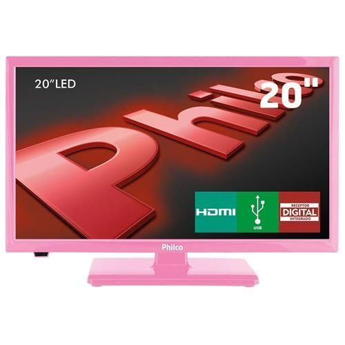 "TV LED 20"" HD Philco PH20U21DR com Receptor Digital, Entradas HDMI e Entrada USB"
