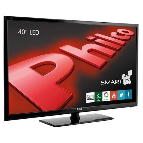 """Smart TV LED 40"""" Full HD Philco PH40R86DSGW com Conversor Digital, Wireless Integrado, Entradas HDMI e Entrada USB"""