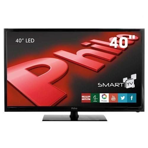 "Smart TV LED 40"" Full HD Philco PH40R86DSGW com Conversor Digital, Wireless Integrado, Entradas HDMI e Entrada USB"