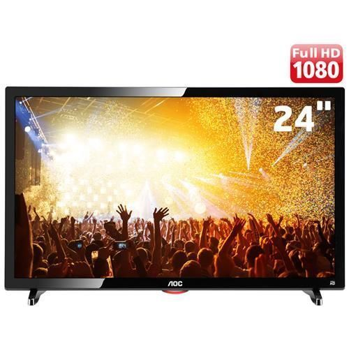 "TV LED 24"" Full HD AOC LE24D1461 com Conversor Digital Integrado, Entradas HDMI e Entrada USB"