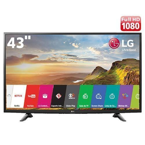 "Smart TV LED 43"" Full HD LG 43LH5700 com Painel IPS, Wi-Fi, Miracast, WiDi, Entradas HDMI e Entrada USB"