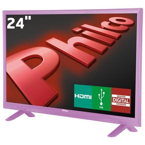 "TV LED 24"" HD Philco PH24E30DR com Conversor Digital Integrado, Entradas HDMI e Entrada USB"