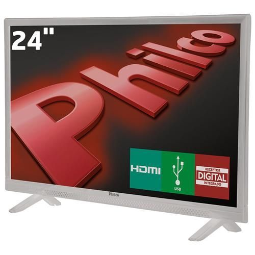 "TV LED 24"" HD Philco PH24E30DB com Conversor Digital Integrado, Entradas HDMI e Entrada USB"