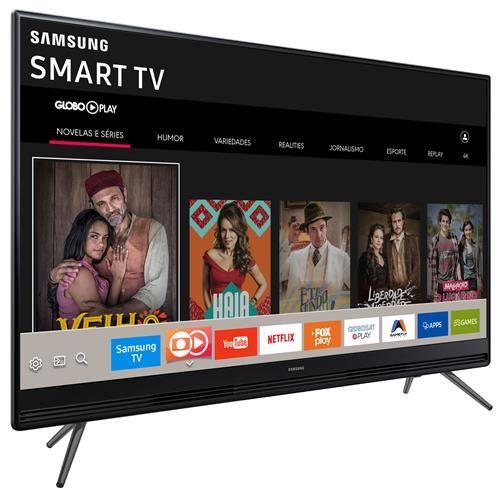 "Smart TV LED 49"" Full HD Samsung 49K5300 com Plataforma Tizen, Conectividade com Smartphones, Áudio Frontal, Conversor Digital, Wi-Fi, 2 HDMI e 1 USB"