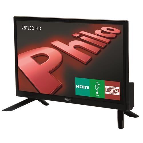 """TV LED 28"""" HD Philco PH28N91D com Conversor Digital Integrado, Som Surround, DNR, Entrada HDMI e USB"""